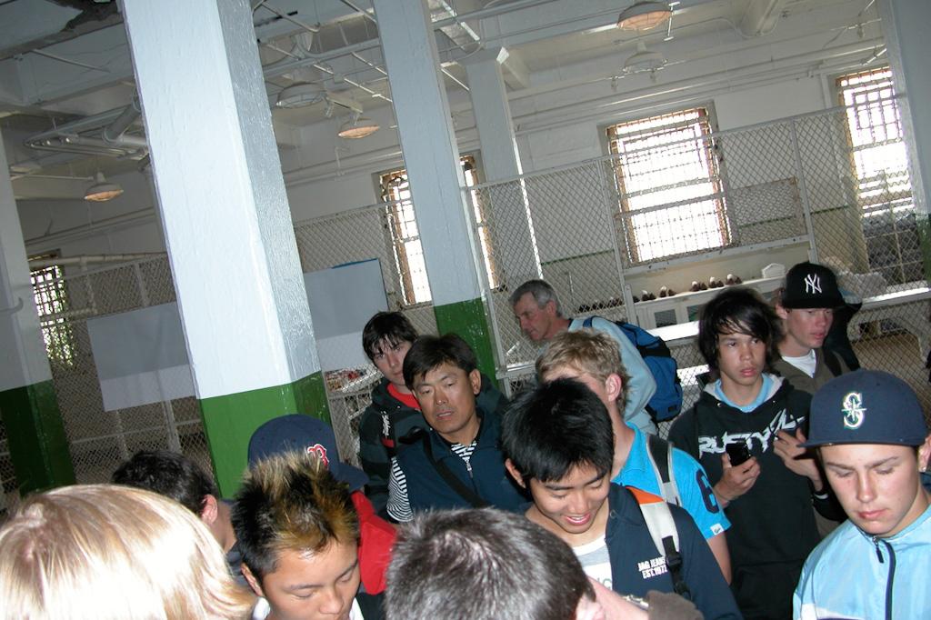 Our team in Alcatraz